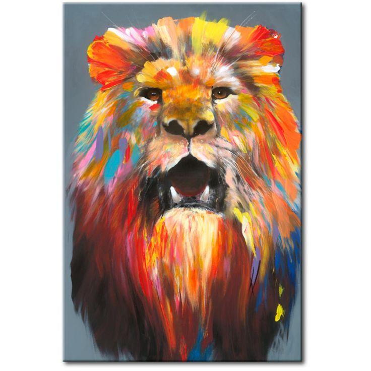 bild auf leinwand king of colours l we katzen tiere wandbilder kunst pinterest. Black Bedroom Furniture Sets. Home Design Ideas