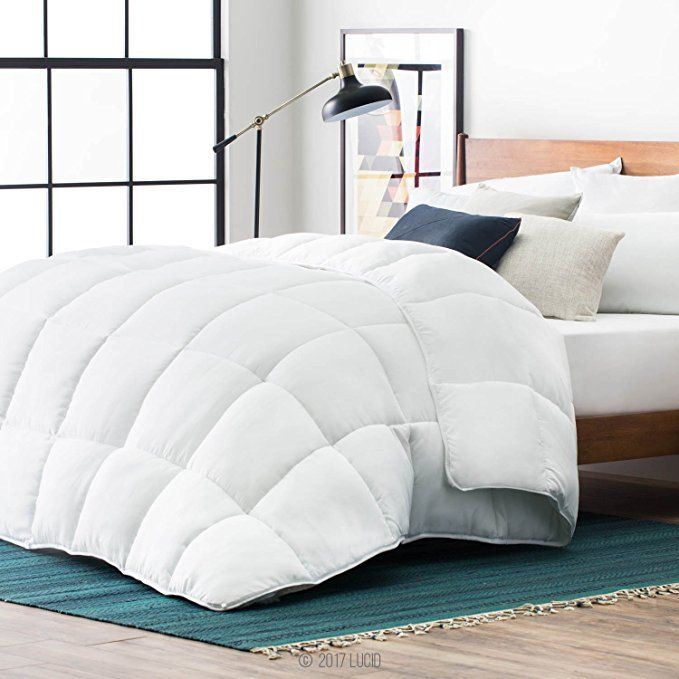 Lucid Down Alternative Comforter Hypoallergenic All Season 400 Gsm Ultra Soft And Cozy 8 Duvet Loops Comforter Sets Duvet Comforters Down Comforters Oversized king down alternative comforter