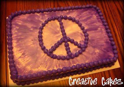 Creative Cakes - Peace Sign Birthday Cake
