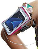 Galaxy S7 Armband, iMangoo Universal Cell Phone Pouch Samsung Galaxy S7 Running Armband Outdoor Sports Armband Gym Wrist Bag Touchscreen Sleeve Case Cover for Galaxy S7 S5 S4 S3 Smartphone Pink