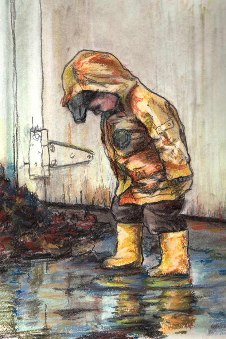 """Puddles"" Chalk pastel, graphite and Charcoal. by Kristine MacGregor"