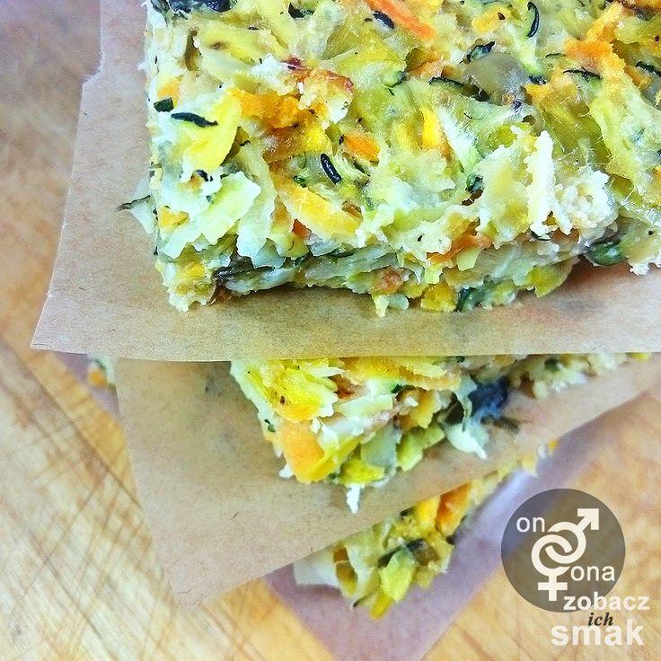 warzywny kugel z batatem i karmelizowanym porem