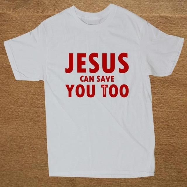 Brand Clothing Jesus Can Save You Too Christian Religious T Shirt Tshirt Men Cotton Short Sleeve T-shirt Top Camiseta