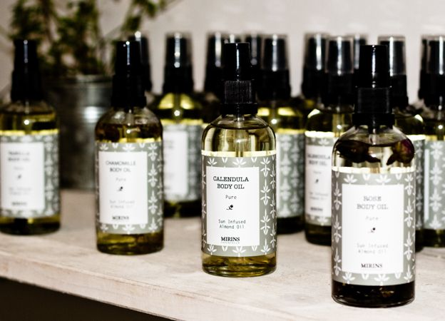Mirins Copenhagen Natural Skincare | Sun infused oils with Calendula, Rose and Chamomile