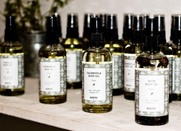 Mirins Copenhagen Natural Skincare | Sun infused oils with Calendula, Rose and Chamomile