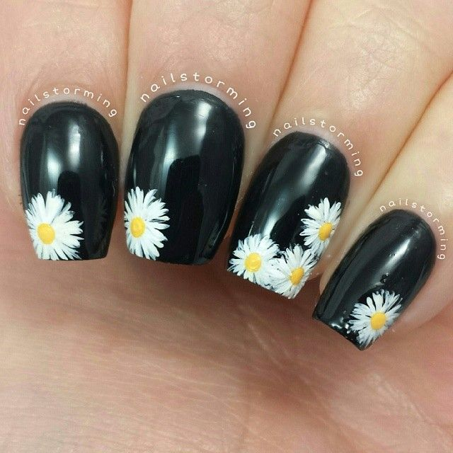 Best 25 daisy nail art ideas on pinterest diy daisy nails image viagreen black nail artimage viacosmic ocean black and green nail art designsimage viablack and green nail art designs tutorialimage viaindigo black prinsesfo Gallery