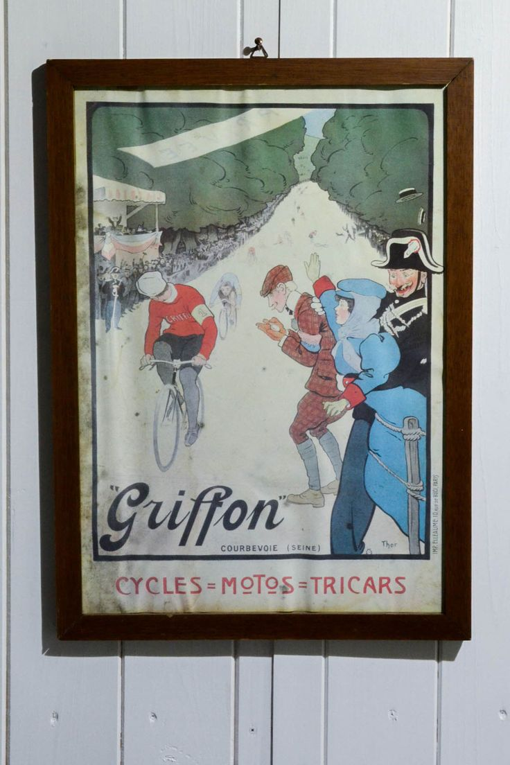 Stampa vintage poster Griffon Cycles