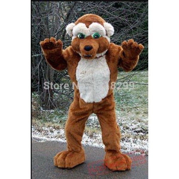 Brown Wolf Mascot Costume Mascot Costumes Costumes Bear