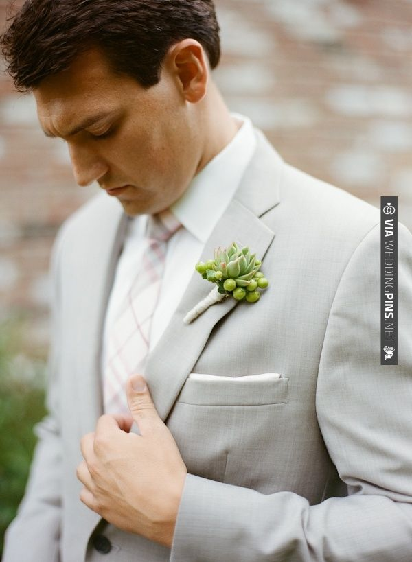 This groom looks so great in his light gray with a touch of pink wedding suit. | CHECK OUT MORE IDEAS AT WEDDINGPINS.NET | #bridesmaids