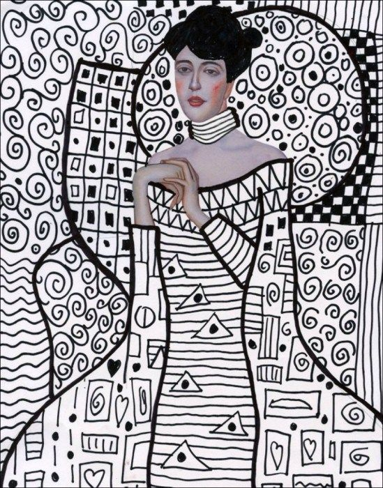 Klimt-Line-Art