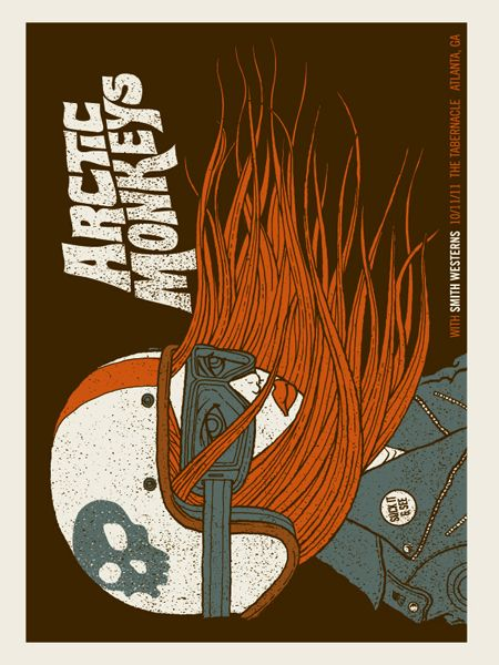 ARCTIC MONKEYS-BIKER GIRL | Gig Poster Archive Archives | Methane Studios
