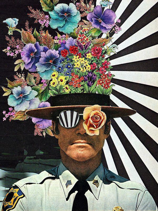 Zimbardo // #vs2bsciencemag Eugenia Loli Sheriff police flowers stripes