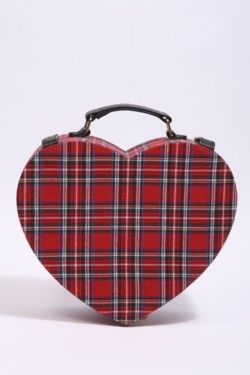 red plaid heart