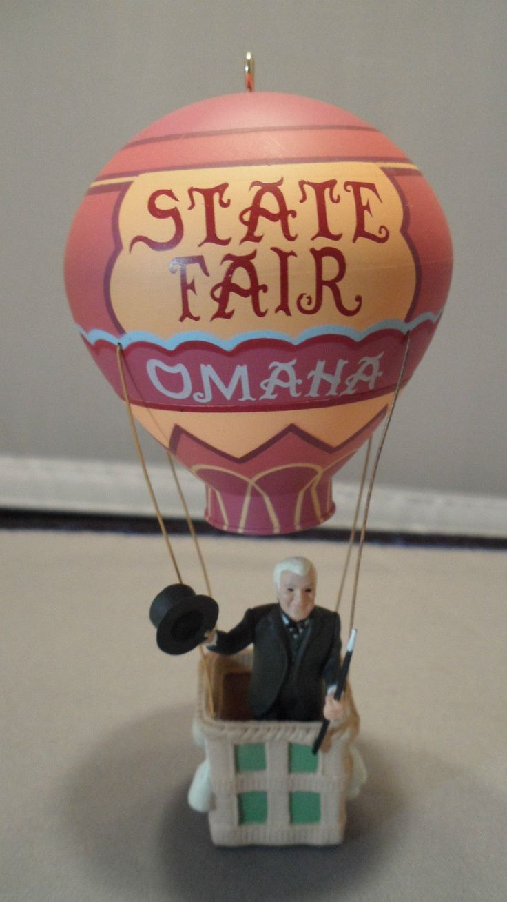 Wizard of oz christmas decorations uk - 1996 Hallmark Keepsake Ornament Omaha State Fair Hot Air Balloon Wizard Of Oz Ebay