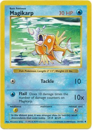 Magikarp 35/102 Pokemon TCG: Base Set Pokemon Card #pokemon #pokemontcg #pokemoncards #thepokemart
