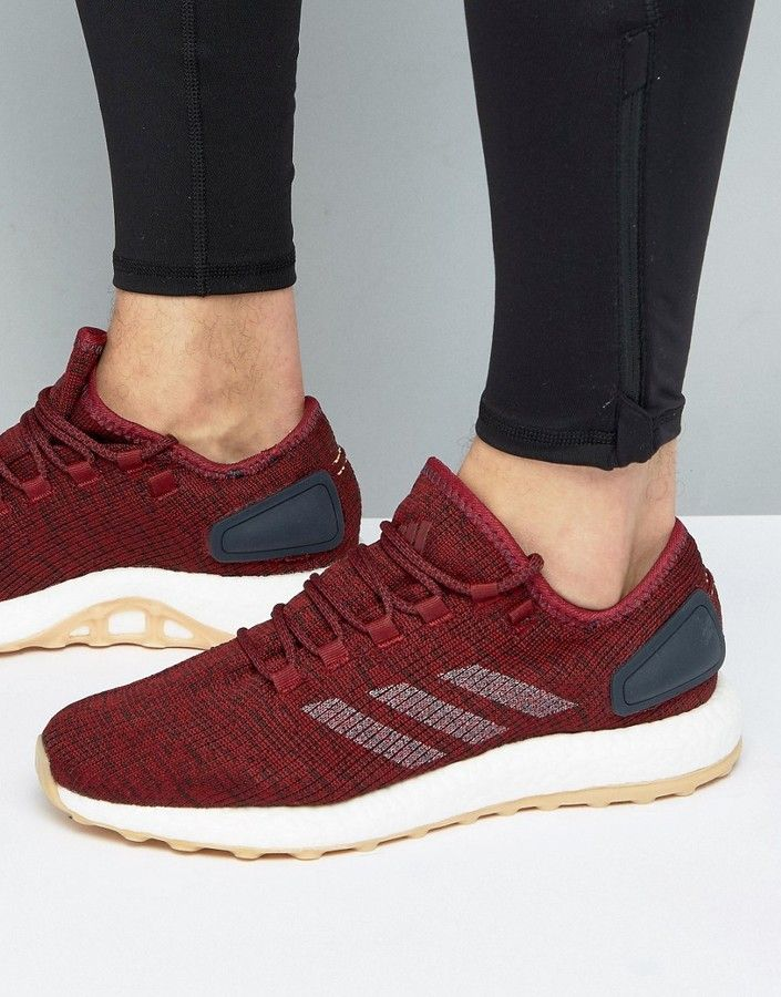 Adidas adidas Pure Boost Sneakers in Burgundy BA8895