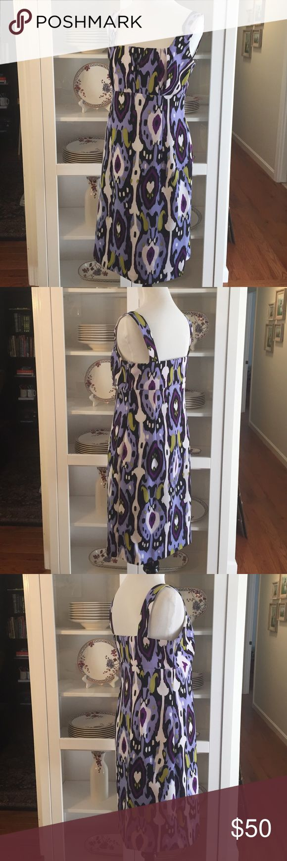 """Patterned Scarlett dress Adorable bold patterned Scarlett dress. Perfect condition, recently dry cleaned!! No tag with size, but closest to 6. Measurements are 35"""", 32"""", 40"""" Scarlett Dresses"""
