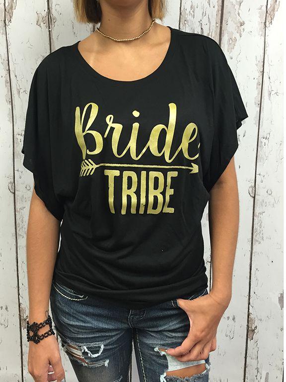 Bride Tribe Flowy Draped Sleeve Dolman Tee Sleeve T