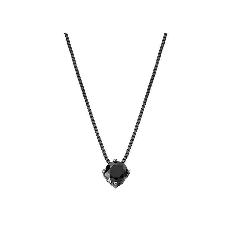 Colar Solitário Diamante Negro- 80cm - Jack Vartanian