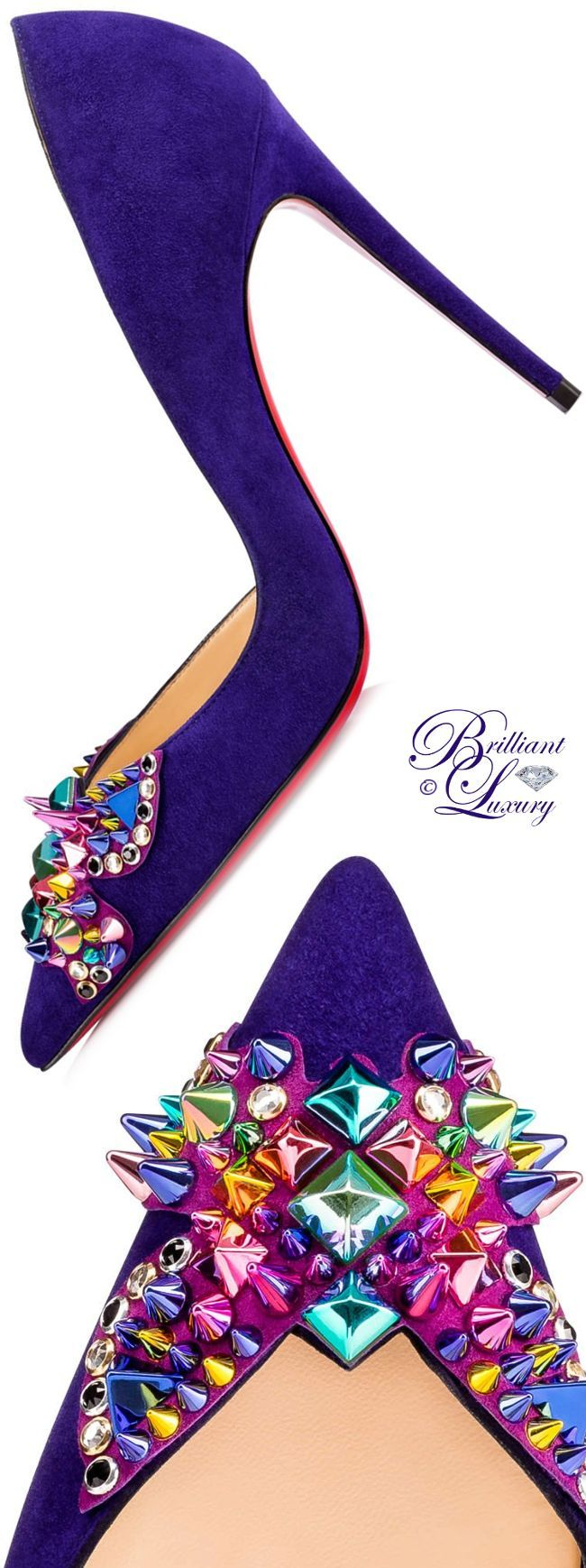 Brillanter Luxus ♦ Christian Louboutin Farfaclou Kalbsamt