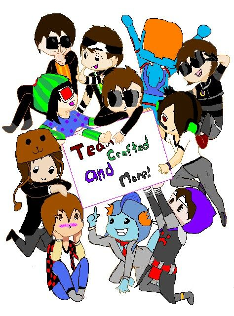 My drawing of Team Crafted -Ask Minecraft Recruits