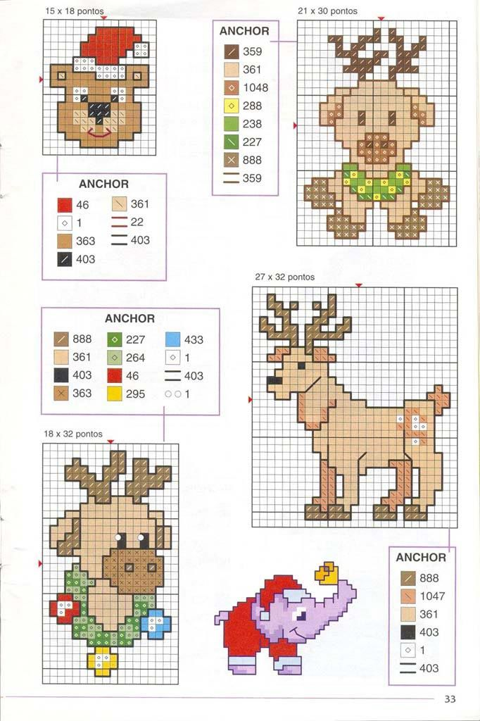 Вышивка крестом / Cross stitch : Маленькие новогодние мотивы-4