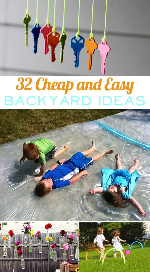 I love summer!! 32 Cheap And Easy Backyard Ideas That Are Borderline Genius