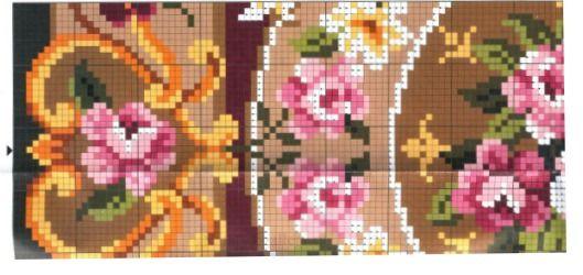 roses rug (left center)