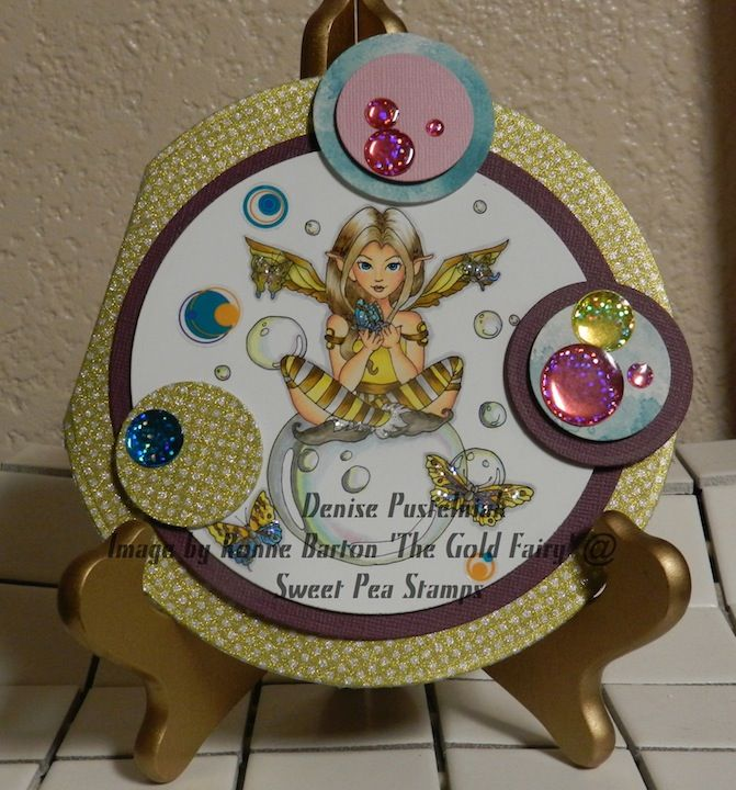 Denise using The Gold Fairy by Ronne Barton