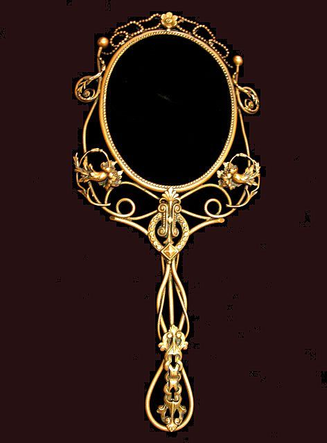 Vintage hand mirror drawing google search tat for Mirror drawing