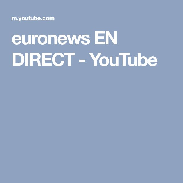 euronews EN DIRECT - YouTube