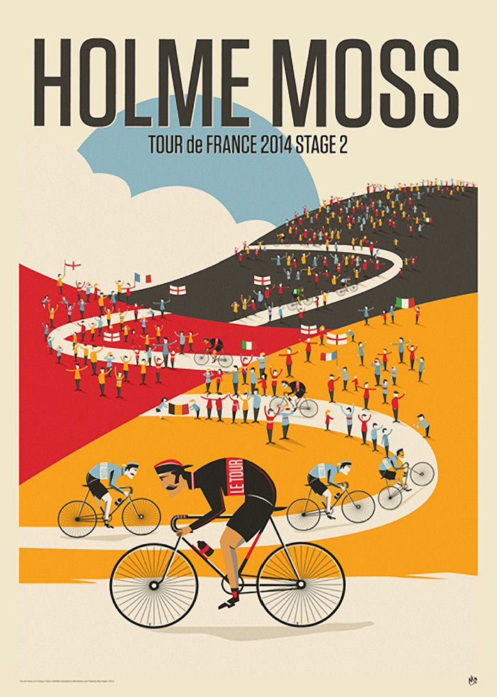 Poster for the second stage of the Tour de France.