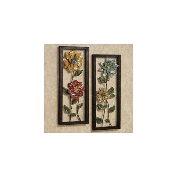 Mediterranean Garden Floral Metal Wall Art Set - Flowers - Metal Wall Sculptures -