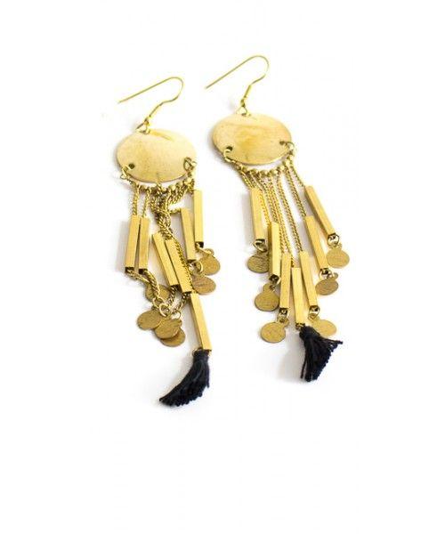 Orecchini con pendenti di mini monete e nappe - Vestopazzo