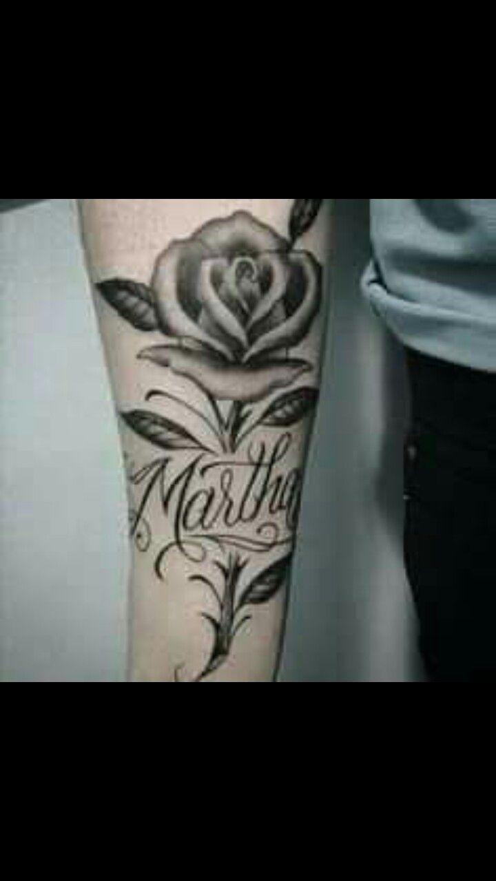 Pin De Lucas Gonzalez En Flores En La Pierna Rosas Con Nombres Tatuajes De Nombres Nombres Para Mujer
