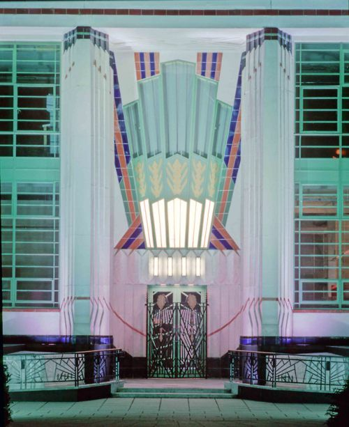 The Hoover Building on Western Avenue (A40) in Perivale, West London, is an example of Art Deco architecture designed by Wallis, Gilbert and Partners.