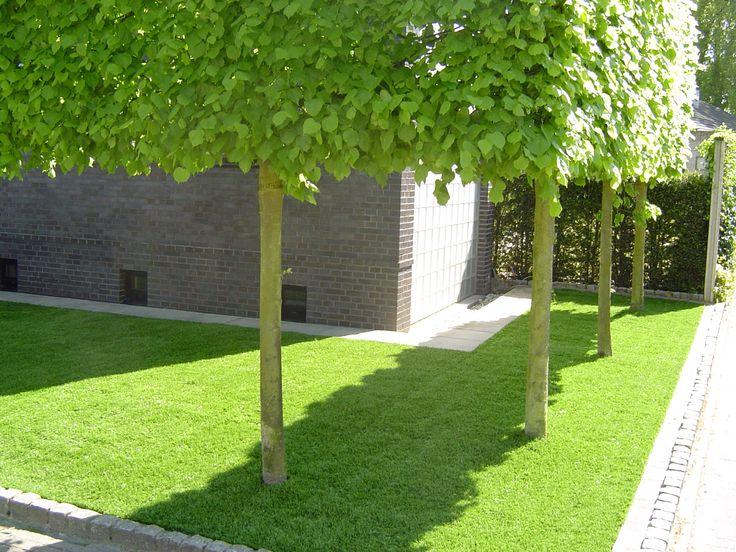 Kunstgras rondom woonhuis aangelegd.