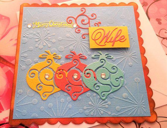Christmas Card  Wife  Handmade Cards  Happy Christmas Cards