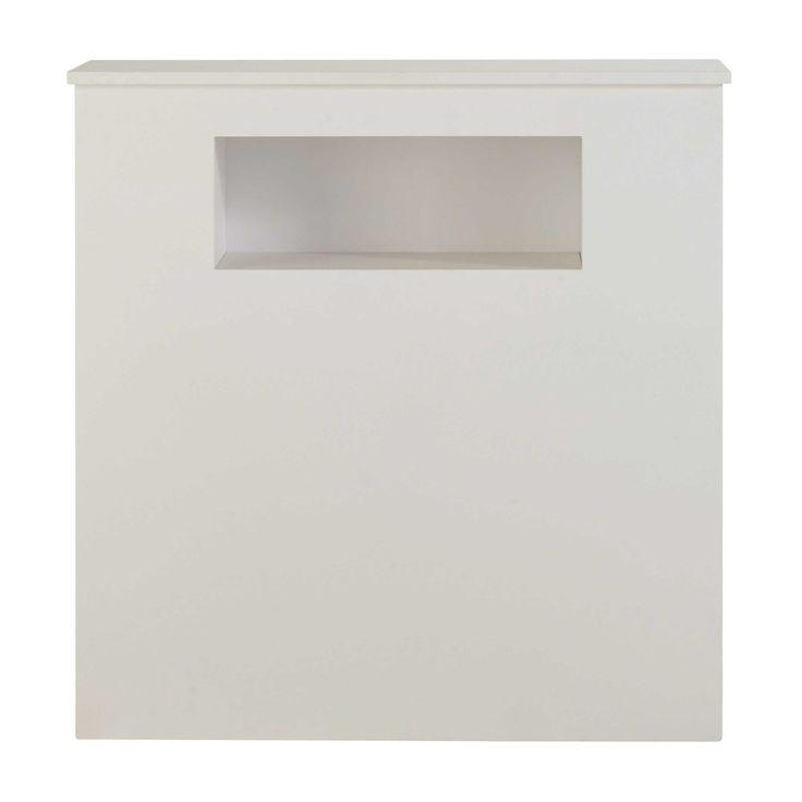 Cabecero de madera blanca L 90 cm Tonic