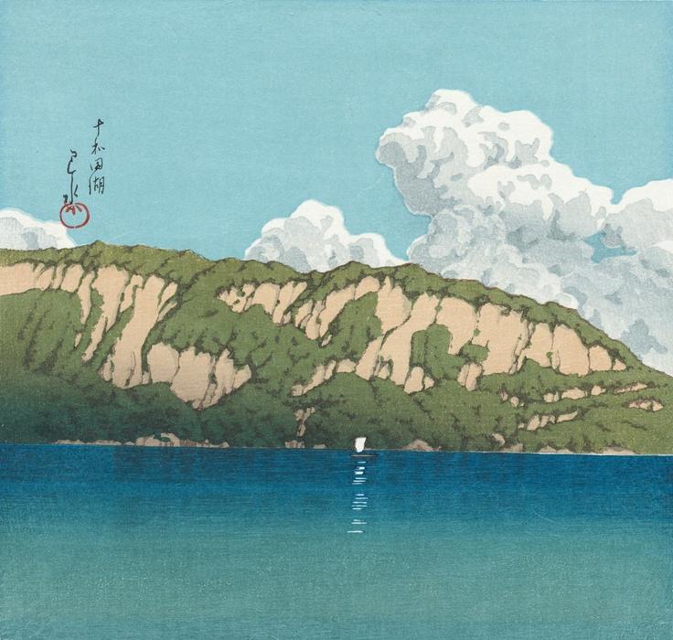 十和田湖 (Lake Towada), by Kawase Hasui, 1930