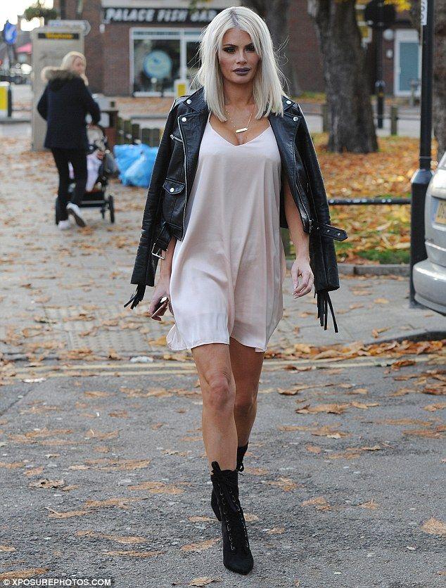 Chloe Sims rocks underwear as outerwear for TOWIE filming