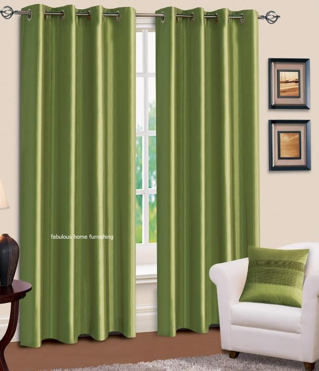 light green curtains