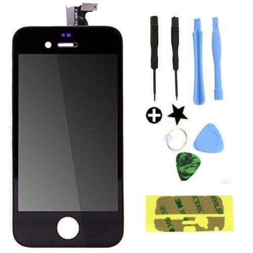 Noir/Blanc LCD Tactile Écran Lentille Affichage Digitizer Assemblée Remplacement pour iphone 4 4g GSM/CDMA