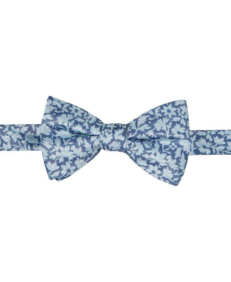 Pre tied bow tie - Light blue base & even lighter blue paisley Notch fKLqx9XRmD