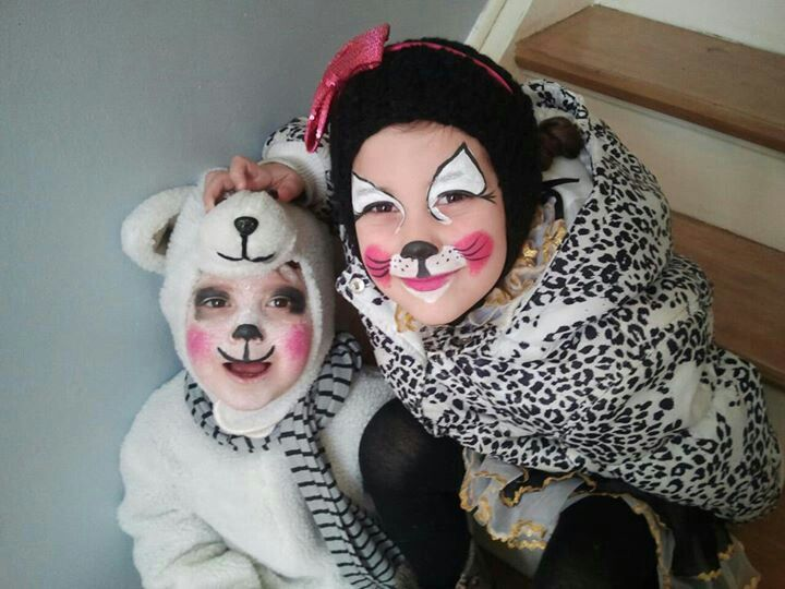 Cat & sheep :) face painting