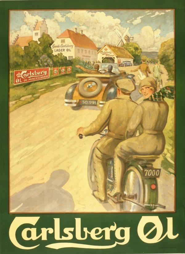 Vintage Carlsberg beer advertisement