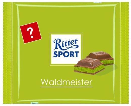 RITTER SPORT Fake Schokolade Waldmeister