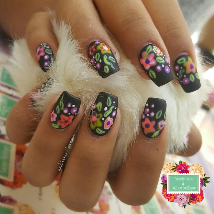 Mexican Folk Art Nails