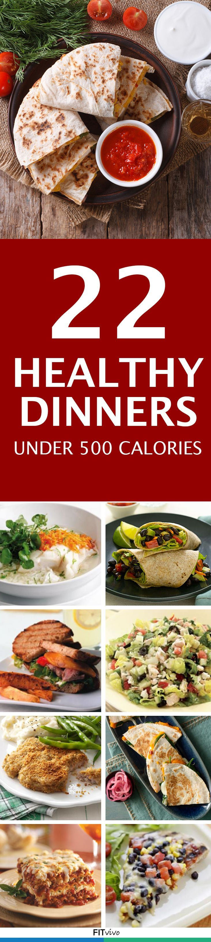 Here are 22 healthy dinners that are under 500 calories. These meals help keep your weight loss regime in check #coupon code nicesup123 gets 25% off at  Provestra.com Skinception.com
