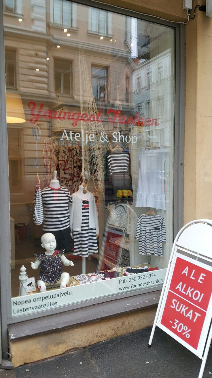 Shop window children clothes